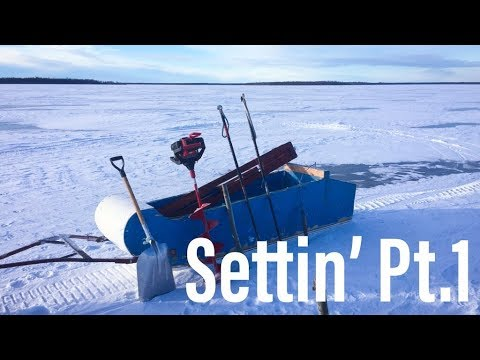 Commercial Ice Fishing | Setting Gill Nets Pt.1