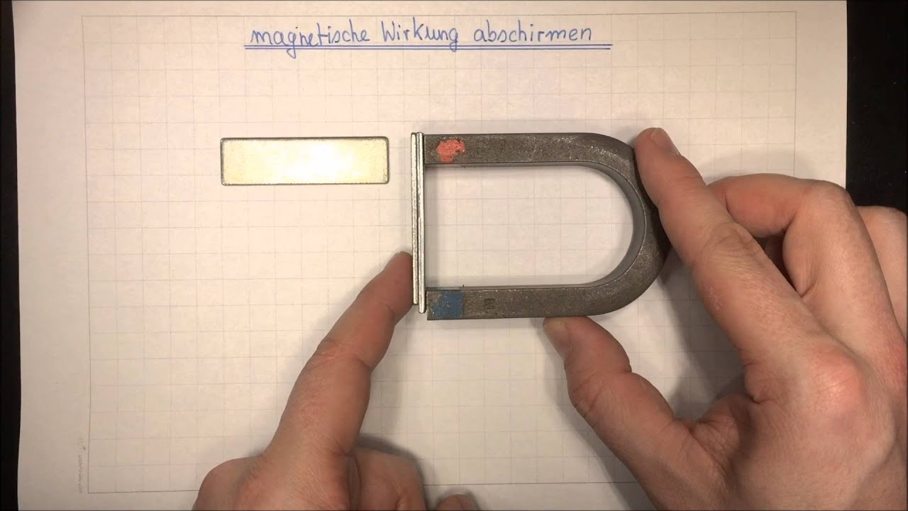 magnetische wirkung abschirmen sachtunterricht physik lehrerschmidt youtube. Black Bedroom Furniture Sets. Home Design Ideas