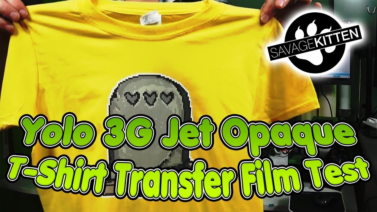 Yolo 3G Opaque T-Shirt Transfer Paper Test