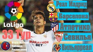 33 тур Чемпионат Испании по футболу ЛА ЛИГА 2019 2020 Итоги матчей 33 тура расписание 34 тур
