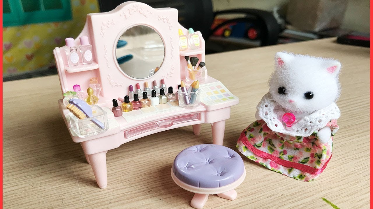 Đồ chơi gia đình thỏ Sylvanian families, Bàn trang điểm của mèo ba tư, Sylvanian toys (Chim Xinh)