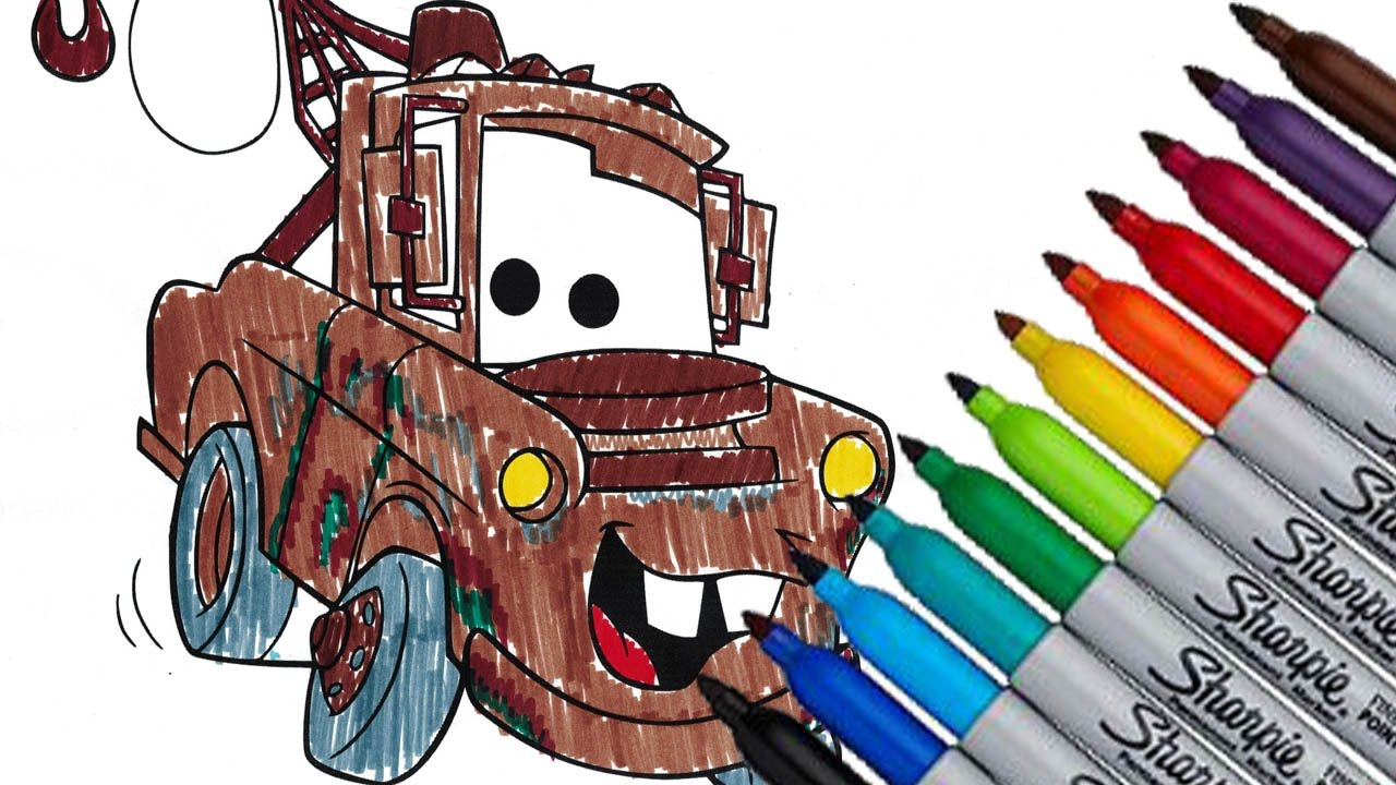 Mater from Cars by Disney Pixar Fun Coloring Page 2016 HD ...