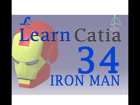 Learn catia V5 Tutorials for beginners |IRON MAN HELMET