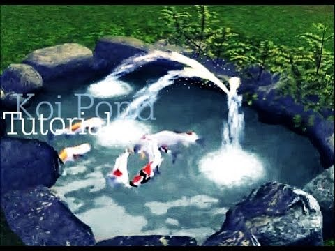 How to make a koi pond in sims 3 youtube for Sims 4 fishing