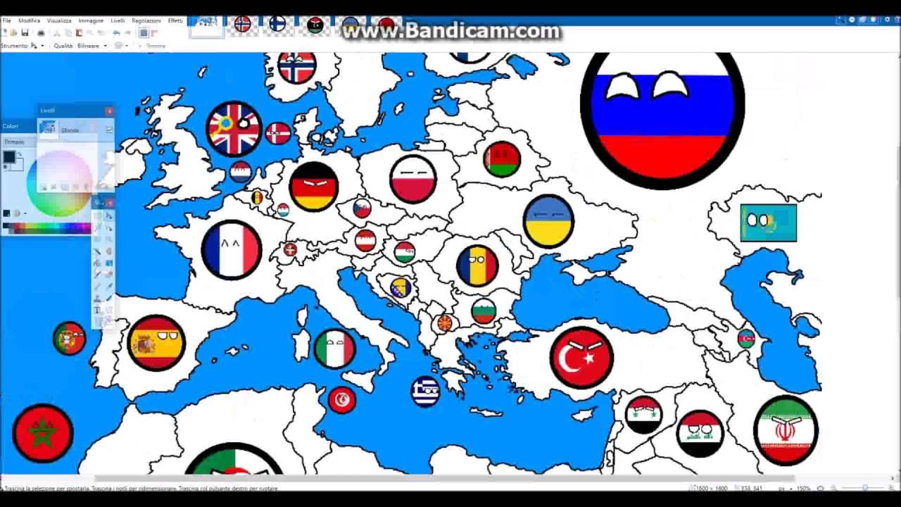 Drawing an European Blank Map- Part 2 -Countryballs! - YouTube