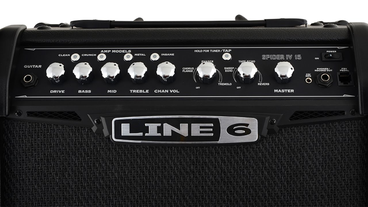 line 6 spider 4 15 watt guitar amp demo and review youtube. Black Bedroom Furniture Sets. Home Design Ideas
