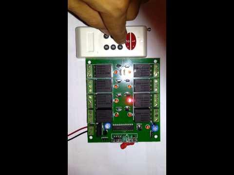 Module RF 8 channel relay