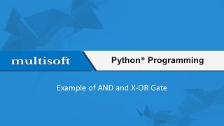 Gate example in python training video ...