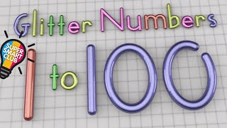 Numbers 1 to 100 [Drawing Glitter Animation]