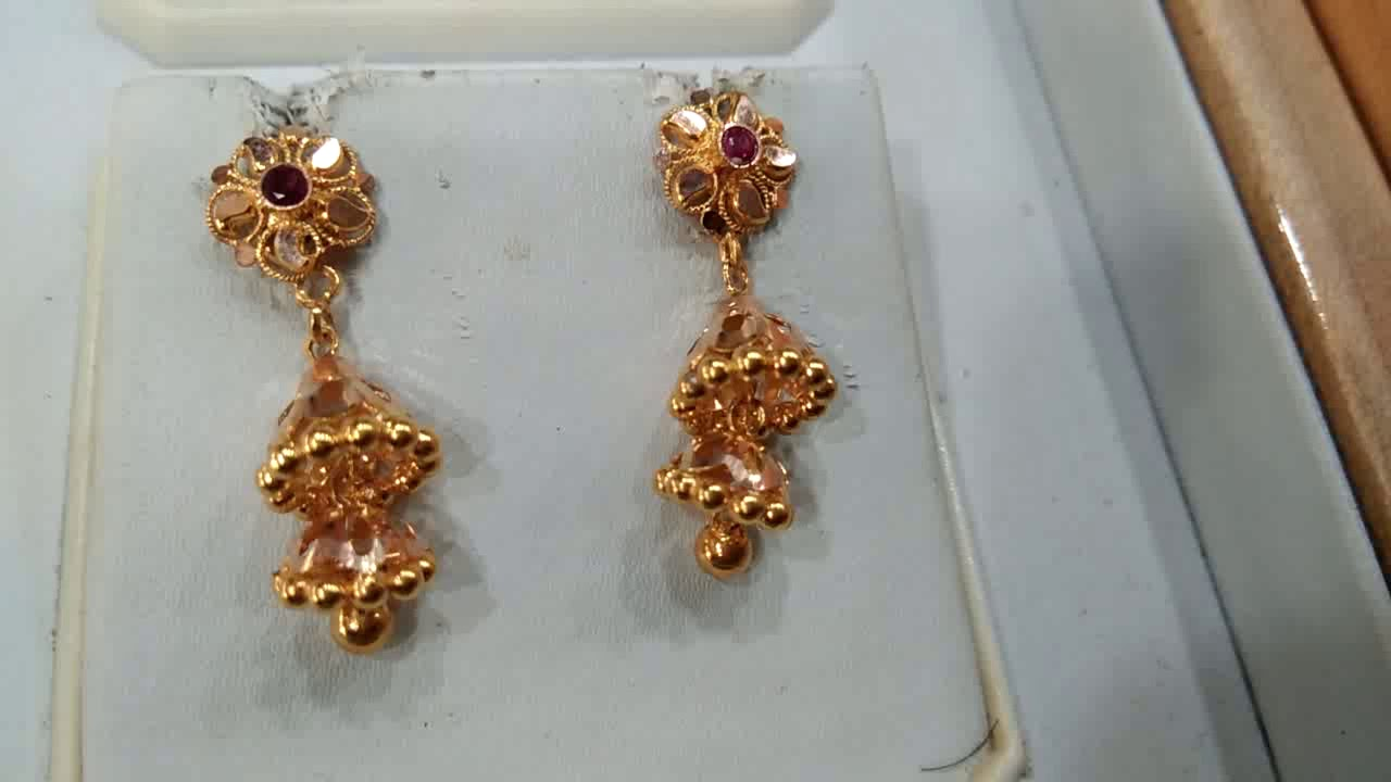 3 Grams Gold 2 Steps Earrings You