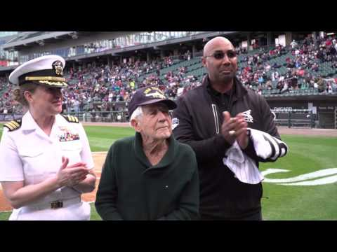 WW2 Vet Leon Cooper Honored by White Sox