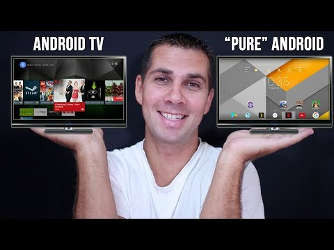 "ANDROID TV OS vs ""PURE"" ANDROID 