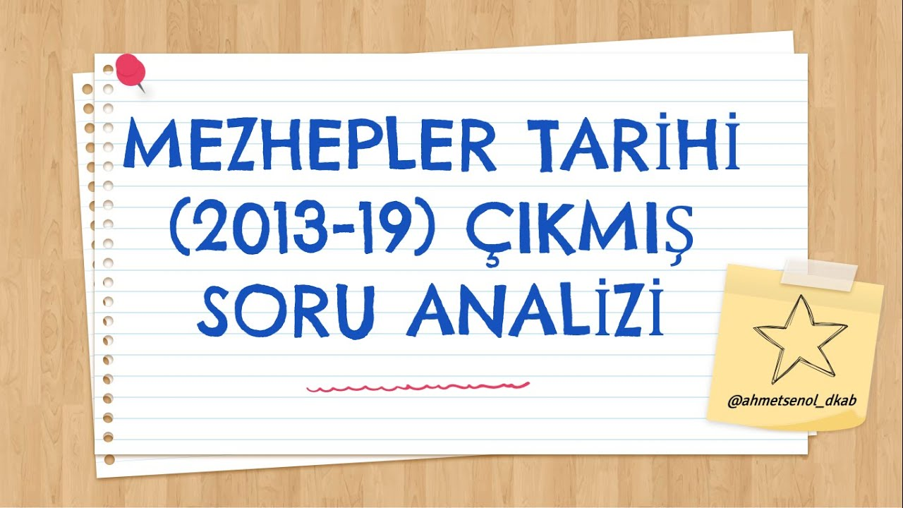 20) KPSS(ÖABT) DKAB/İHL  MEZHEPLER TARİHİ  Soru Çözümü ve Analizi》Ahmet ŞENOL [2020]