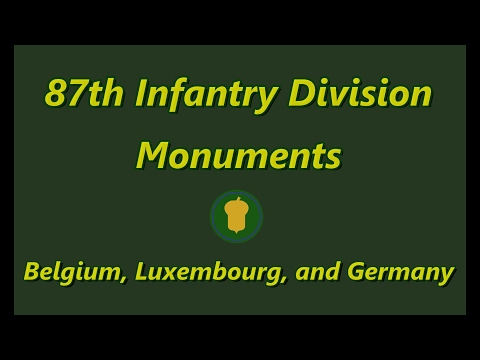 87th Infantry Division Monuments