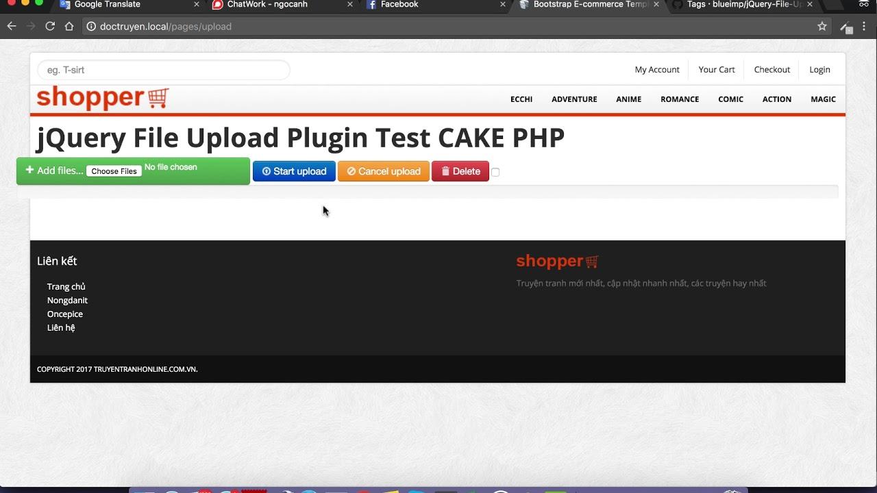 Hướng dẫn sử dụng plugin Jquery Upload File trong cakephp 2.