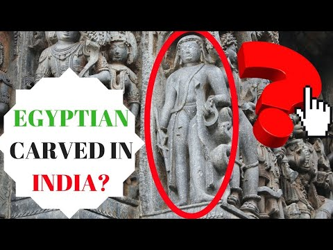 Ancient Egyptian carved in Hoysaleswara Temple, India - Were
