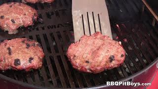 Super Bowl Strip Steak Burgers by the BBQ Pit Boys