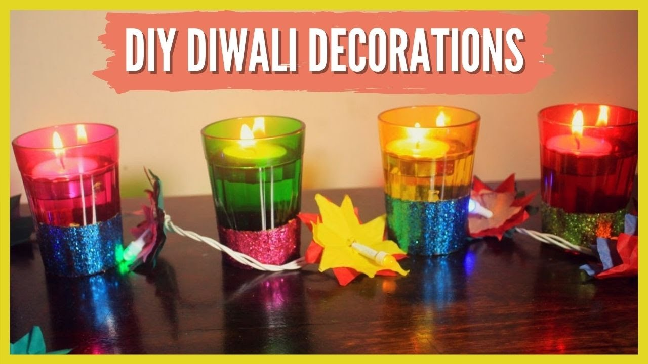 Diy diwali decorations strictly for kids youtube Home made decoration items for diwali