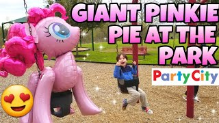 Giant PARTY CITY Airwalker Gliding My Little Pony Balloon shopping 2019 PINKIE PIE
