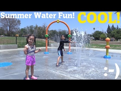 Fun Family Water Playtime! Hulyan & Maya Getting Wet, Bubbles and Ball Playtime Fun 1 of 2