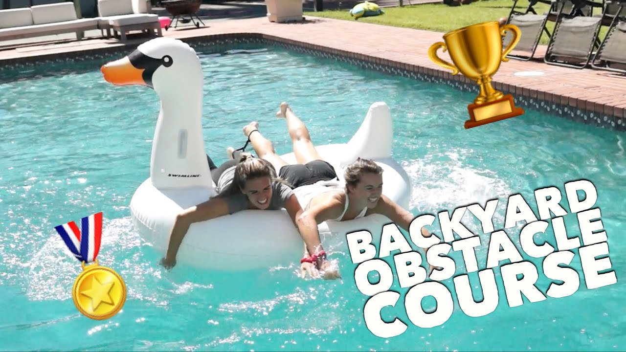 extreme backyard obstacle course youtube