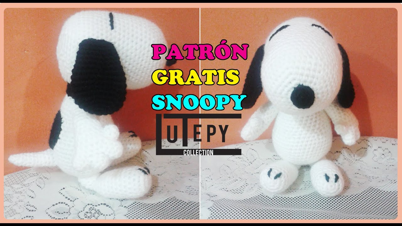 Amigurumi Patterns Snoopy : Snoopy amigurumi patrÓn youtube