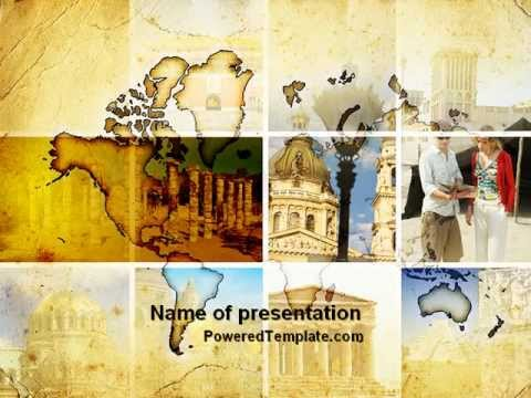 Historical Places Powerpoint Template By Poweredtemplate Youtube