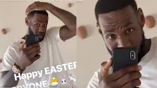 LeBron James REVEALS Fully Restored HAIRLINE With Hype Message On IG!