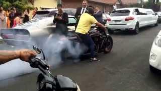Wedding Cars & Bikes Doing Burnouts