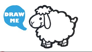 How to Draw a Sheep - Cute - Easy Pictures to Draw