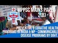 Preventive & Curative Health Programs-Communicable Disease MPPSC Mains Paper 2(B) -4.1