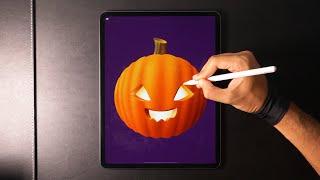 Pumpkin 🎃 Digital Drawing for Halloween