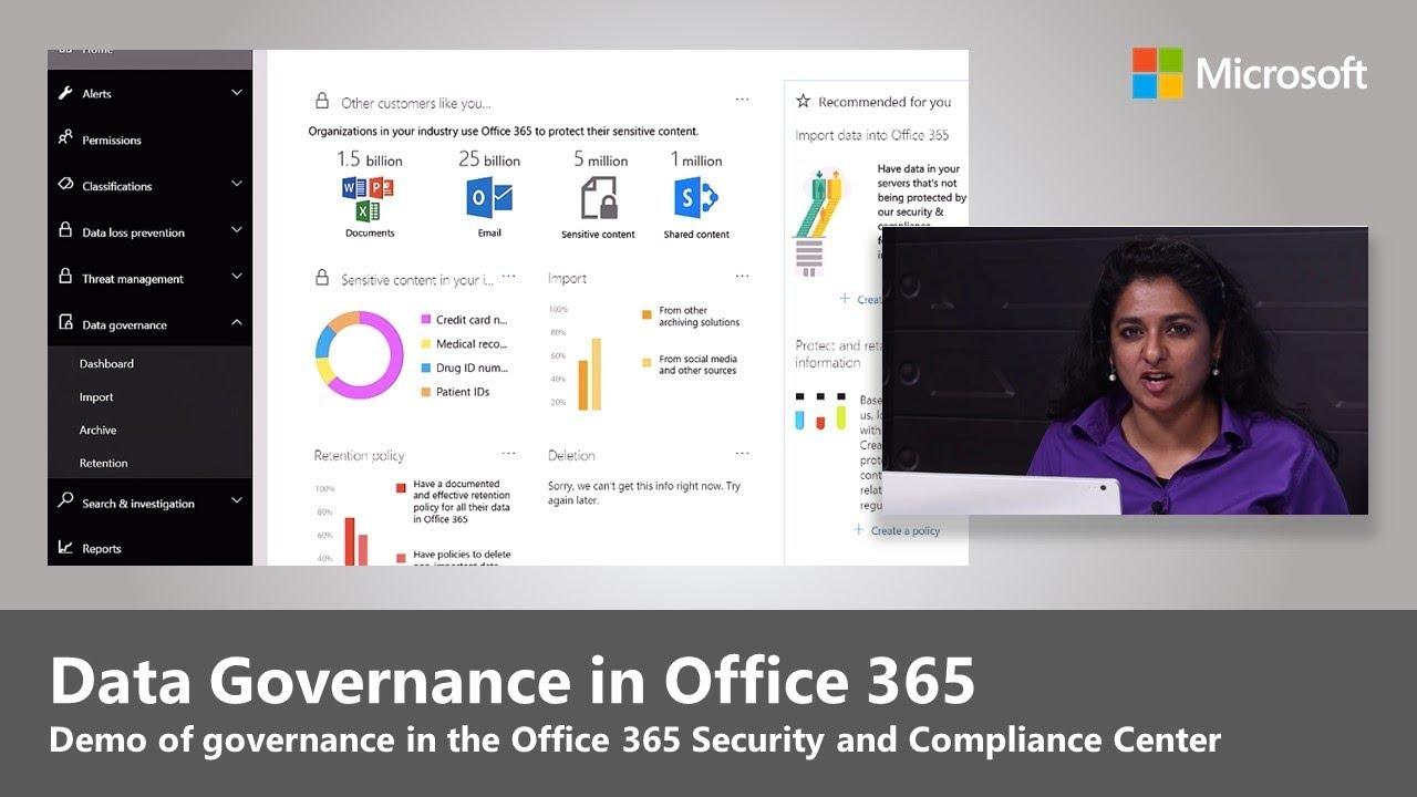office 365 advanced data governance overview gdpr youtube. Black Bedroom Furniture Sets. Home Design Ideas