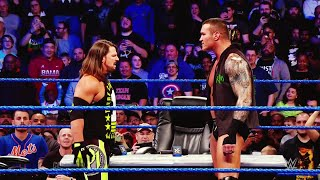 AJ Styles engages Randy Orton in a highly-personal showdown at WrestleMania