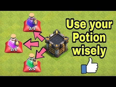 How To Use Your Potion Wisely Clash Of Clans Clan Game