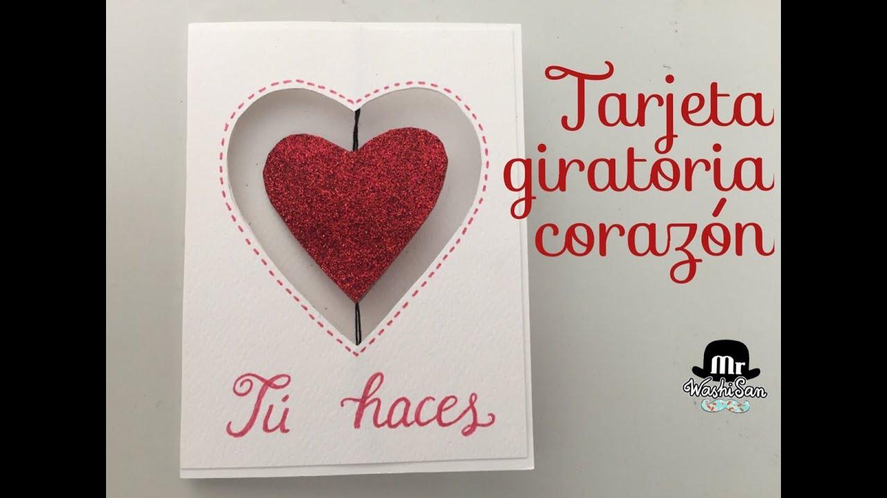 Tarjeta giratoria coraz n para san valent n spinner card - Corazones de san valentin ...