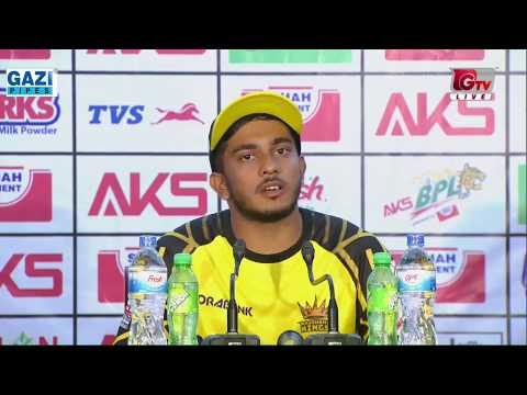 Press Conference With Zakir Hasan after Winning against Sylhet Sixers