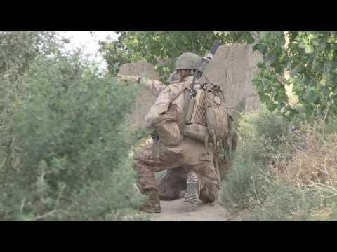 US Marine  Combat Footage Afghanistan Patrol