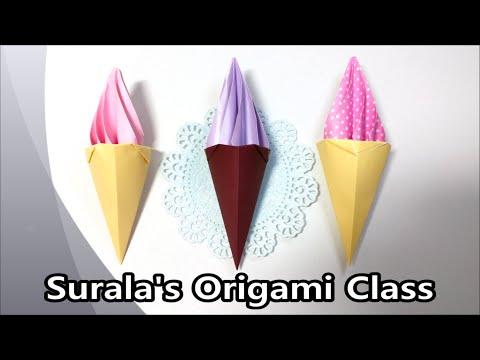 Origami - Ice cream cone