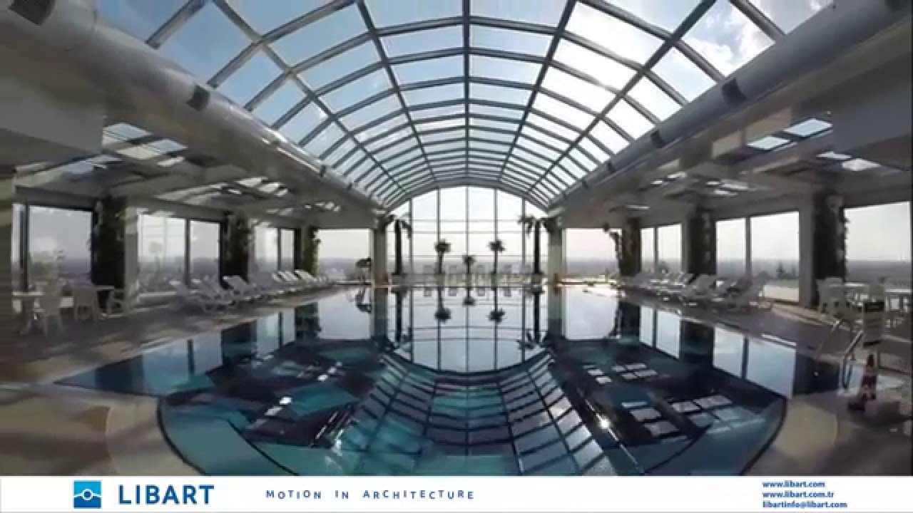 Retractable Glass Skylight / Libart / SolaGlide Retractable Roof   YouTube