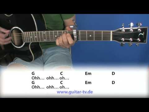 12.1 Waving Flag - K'Naan - Cover - Lyrics - Akkorde / Chords beginner guitar lesson