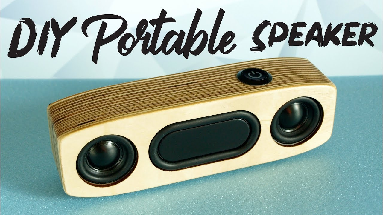 Simple DIY Portable Bluetooth Speaker  HOW TO