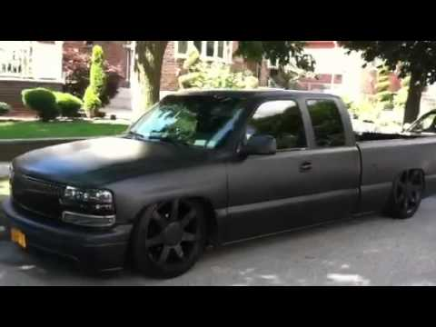 silverado on 22's bagged - YouTube