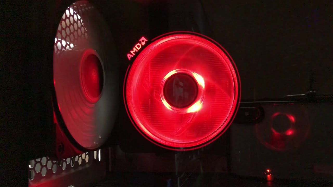 AMD Wraith Prism lighting effects with Coolermaster software