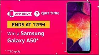 #310 Answer & Win Samsung Galaxy A50 | Amazon Quiz 21 Apr 2019 | AV EduTech