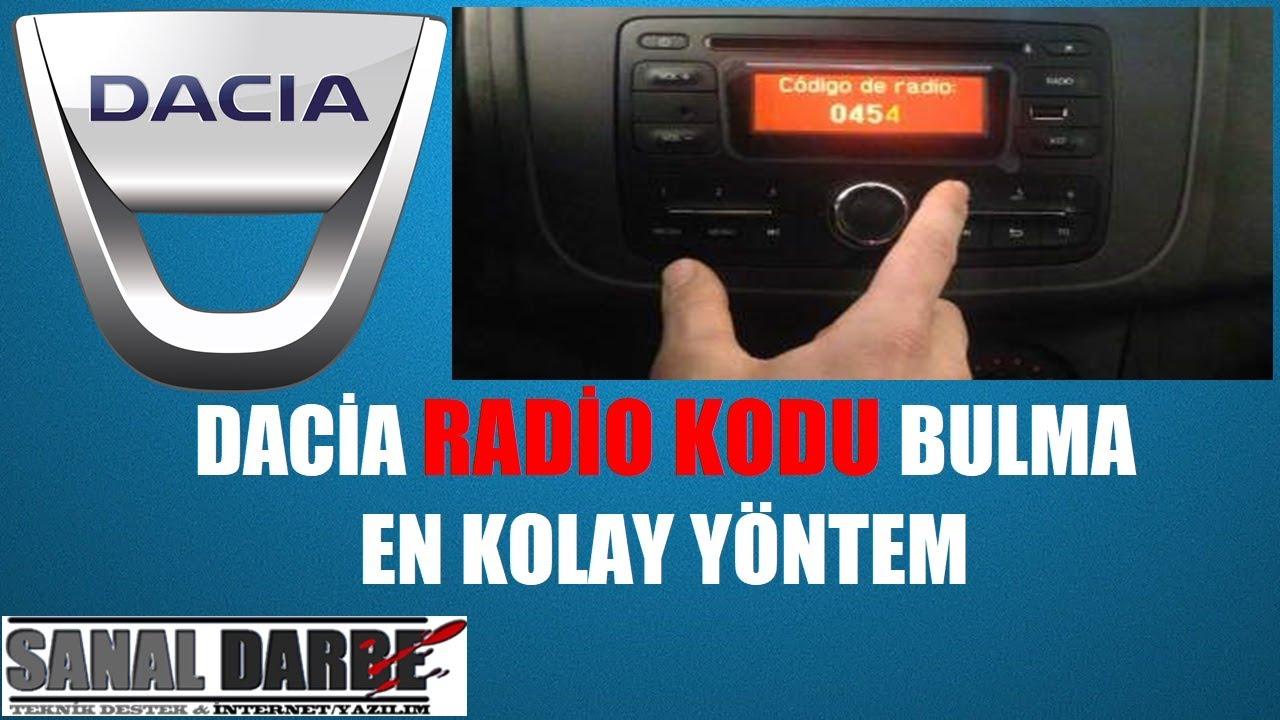 Renault Symbol Clio Duster Teyp Sökme |Teyp Nasıl Sökülür ?  Radyo Kodu Öğrenme & Bulma
