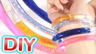 手作りアクセ!ウォーターチューブアクセサリー作ってみた【簡単DIY】How to make water tube bracelet thumbnail