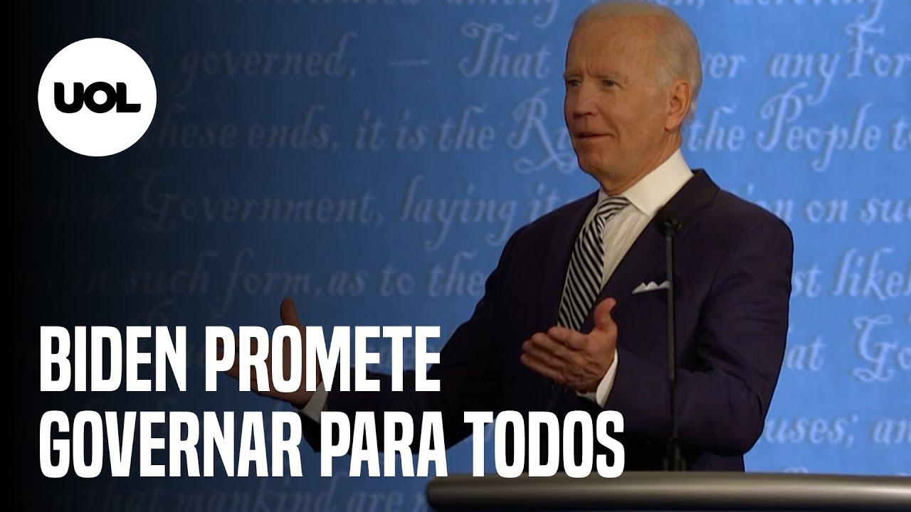 Biden promete ser 'o presidente de todos os americanos'