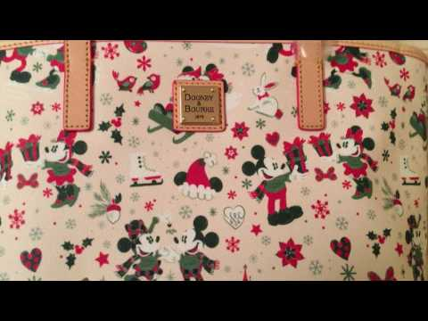 Dooney & Bourke Disney Mickey & Minnie Christmas Holiday Woodland Tote Bag From Disney Parks App