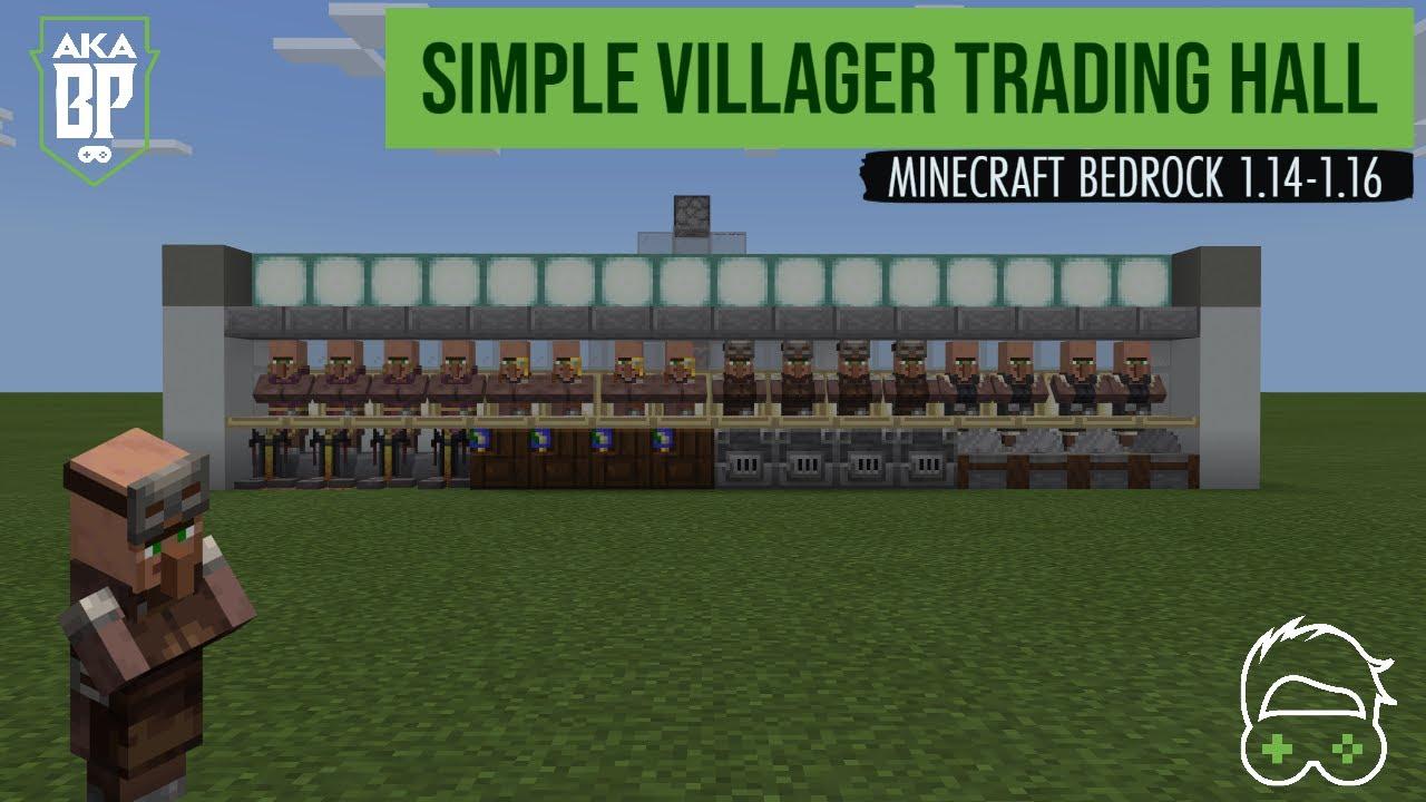 Simple Villager Trading Hall  Minecraft Bedrock